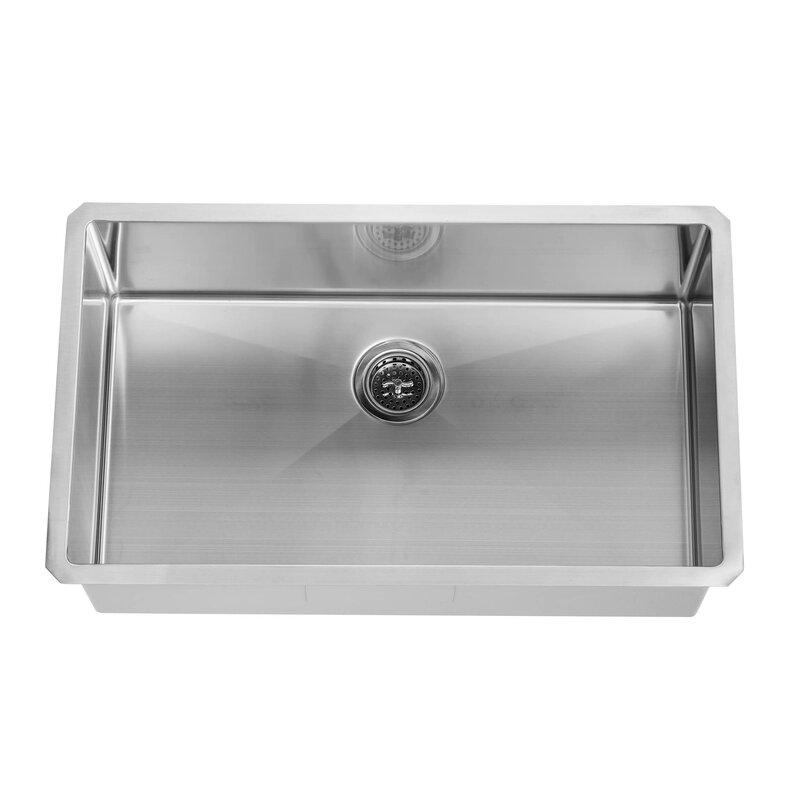 16 Gauge Undermount Kitchen Sink Soleil radius 16 gauge stainless steel 32 x 19 single bowl radius 16 gauge stainless steel 32 x 19 single bowl undermount kitchen workwithnaturefo