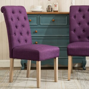 Kenleigh Solid Wood Button Tufted Side Chair (Set Of 2)