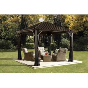 Dakota 12 Ft. W X 10 Ft. D Aluminum Patio Gazebo
