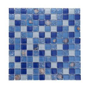 Florida Pool 12 X Gl Mosaic Backsplash Tile In Blue