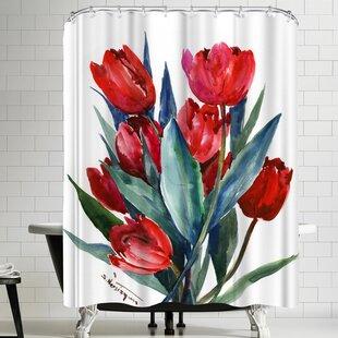 Suren Nersisyan Tulips Shower Curtain