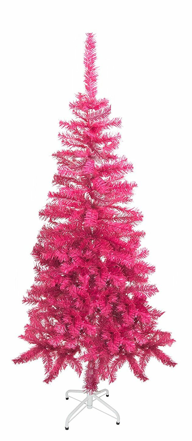 5 Pink Pine Artificial Christmas Tree