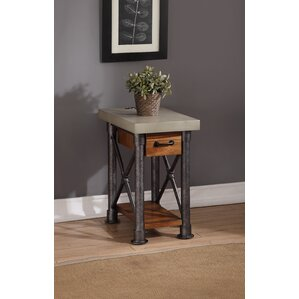 Perei Drawer End Table by 17 Stories