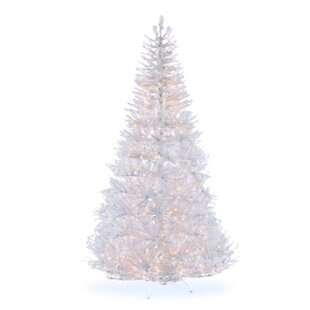 bd12d9484a35 Iridescent 7.5' White Fir Artificial Christmas Tree with 650 Clear/White  Lights