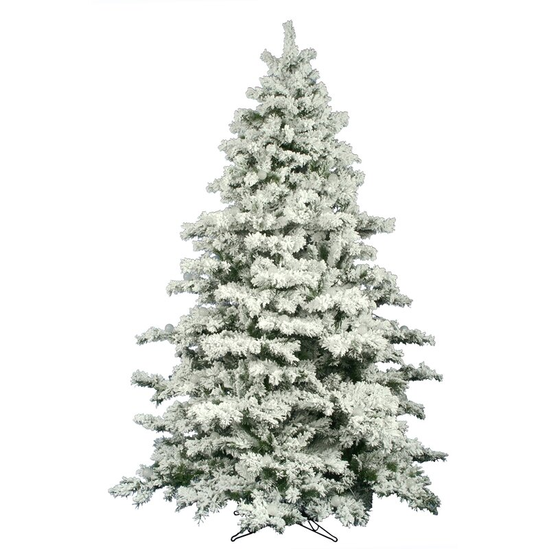 12 flocked alaskan artificial christmas tree - 12 Artificial Christmas Tree