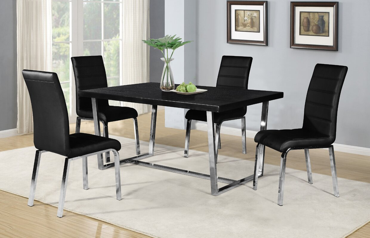 5 Piece Dining Sets orren ellis buariki 5 piece dining set & reviews | wayfair