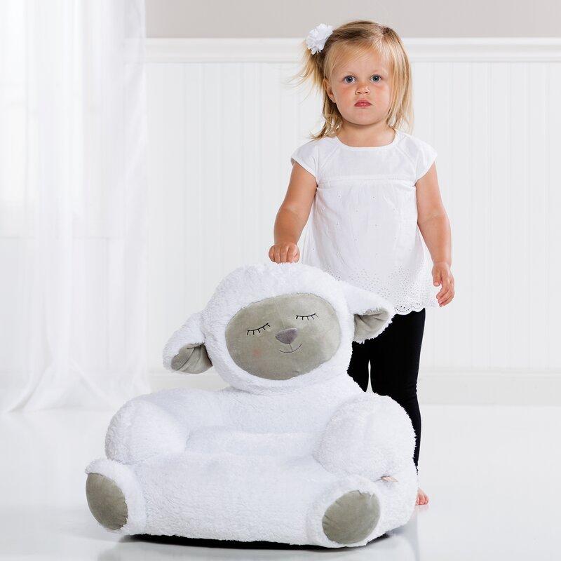 Genial Trend Lab Lamb Plush Character Childrenu0027s Chair