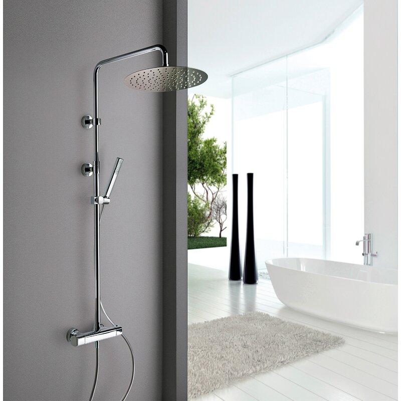 LaToscana Novello Rain Shower Head Shower Panel | Wayfair
