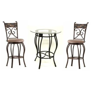 Abbot 3 Piece Beau Pub Table Set by Darby Home Co