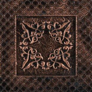 Camelot 4 X Metal Igraine Decorative Accent Tile In Copper