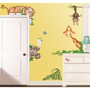 Wall Décor Nursery Décor Decoupage 3d Layered Self-adhesive Decorative Wall Stickers jungle Animals