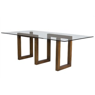 Modern Contemporary Frosted Glass Dining Table AllModern - Frosted glass conference room table
