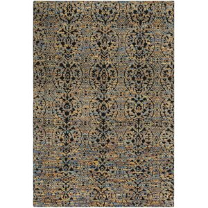 Merriam Hand Tufted Wool Blue/Yellow Area Rug