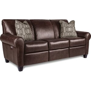 Bennett Genuine Leather Reclining Sofa by La..