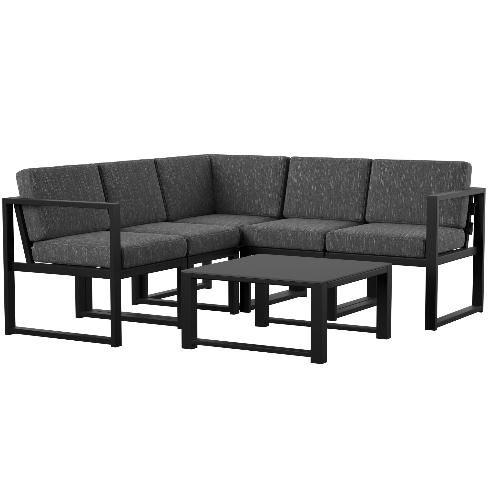 Mirando 6 Piece Sectional Seating Group with Cushions & Reviews ...