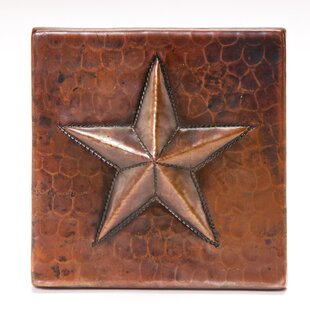 4 X Copper Star Tile In Oil Rubbed Bronze