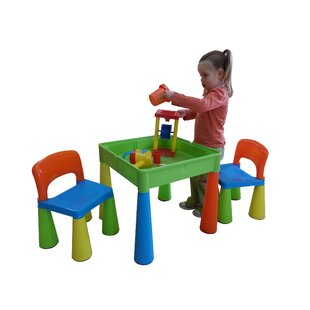 Versatile Children's 3 Piece Table and Chair Set by Just Kids