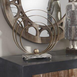 Decorative Gold Metal Table Top Sculpture