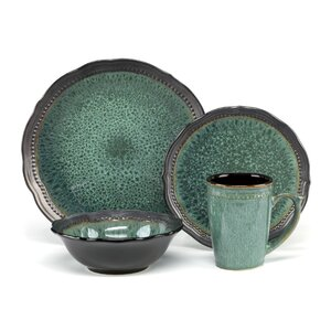 Jenna 16 Piece Dinnerware Set, Service for 4