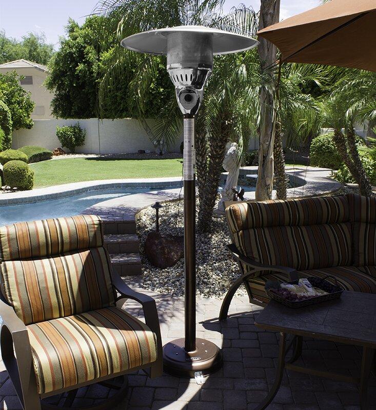 AZ Patio Heaters 41,000 BTU Natural Gas Patio Heater & Reviews | Wayfair