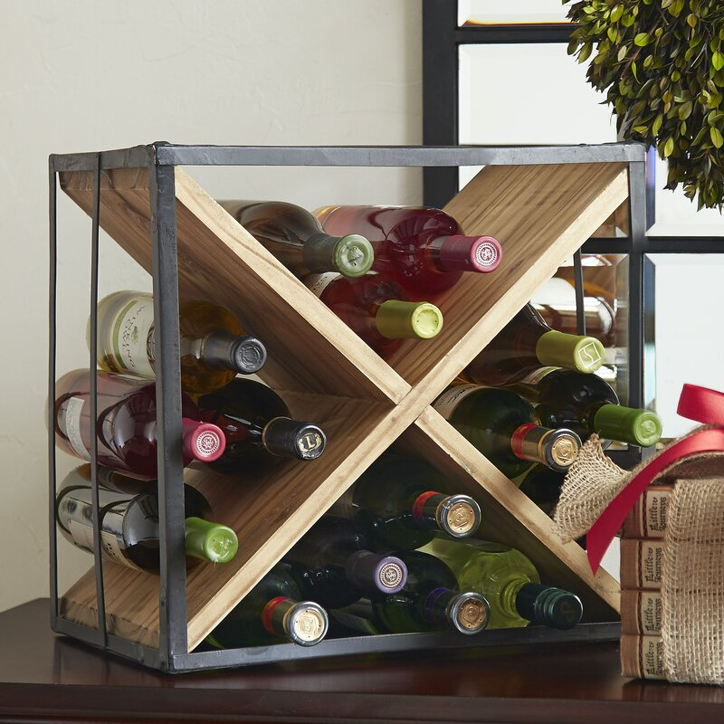 Breakwater Bay Mcgruder Cross 9 Bottle Tabletop Wine Rack Reviews