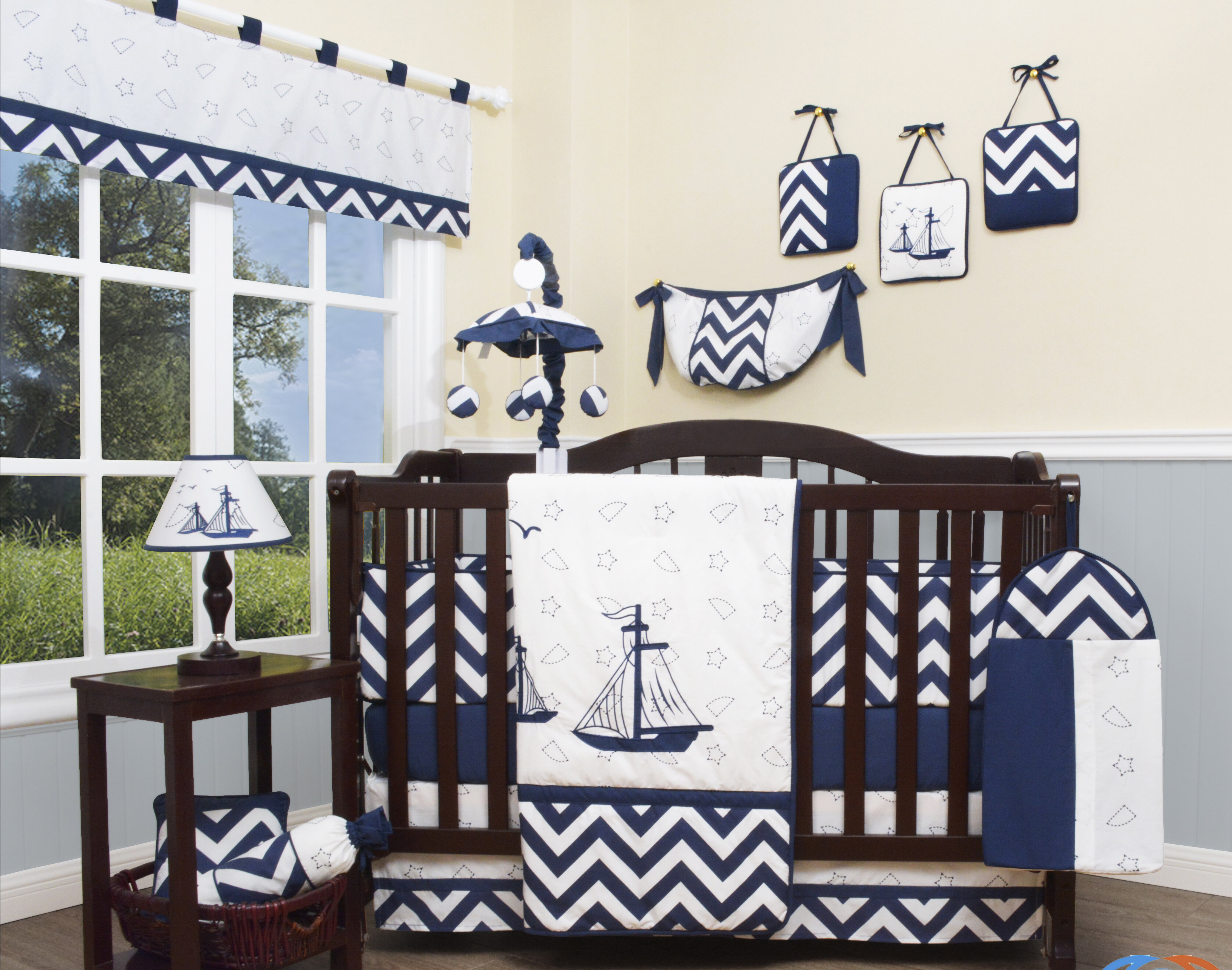 Geenny explorer nautical piece crib bedding set reviews wayfair
