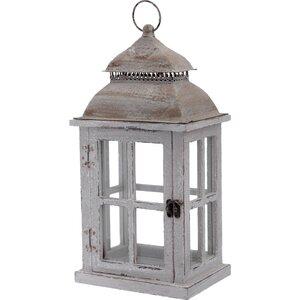 Light Outdoor Hanging Wood Lantern