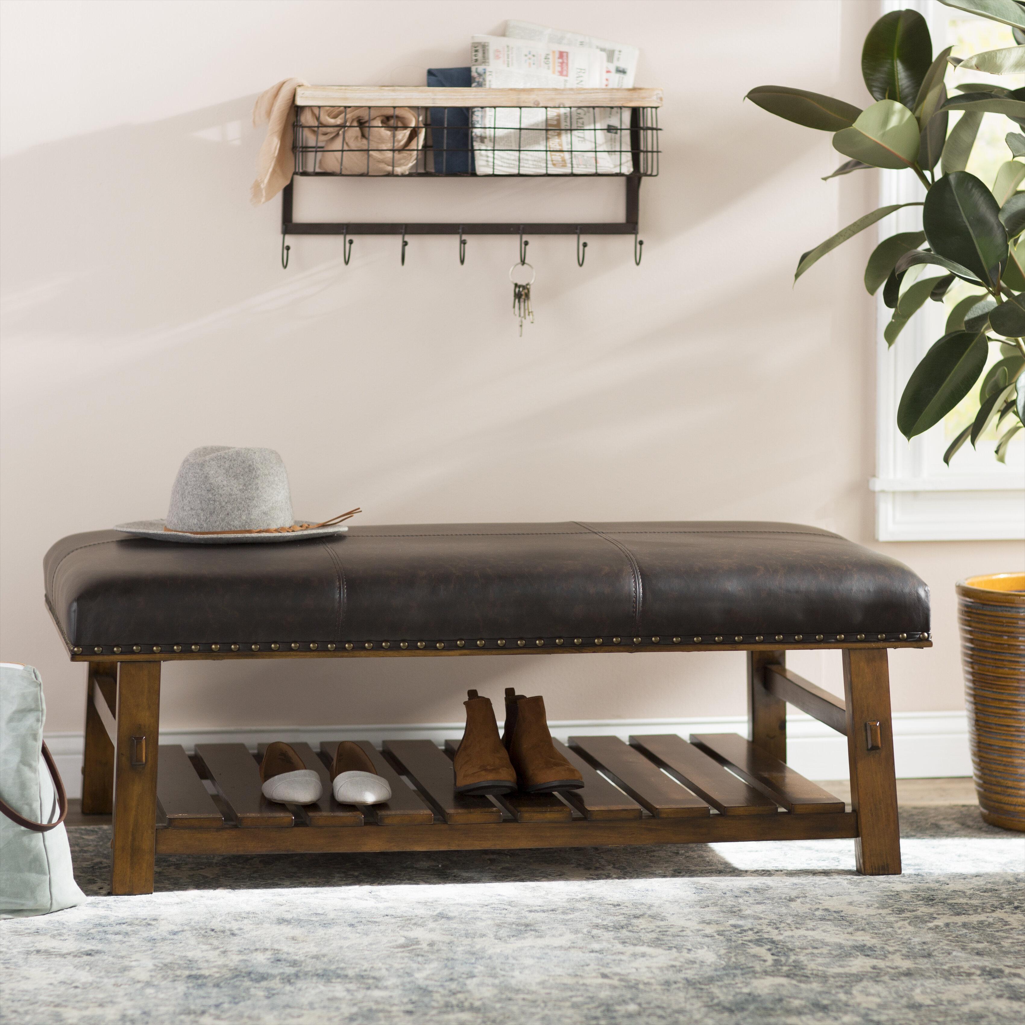 Etonnant Millwood Pines Tabron Fabric Upholstered Storage Bench U0026 Reviews | Wayfair