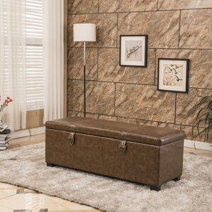 Luxury Comfort Classic Buckled Storage Ottoman by Bellasario Collection