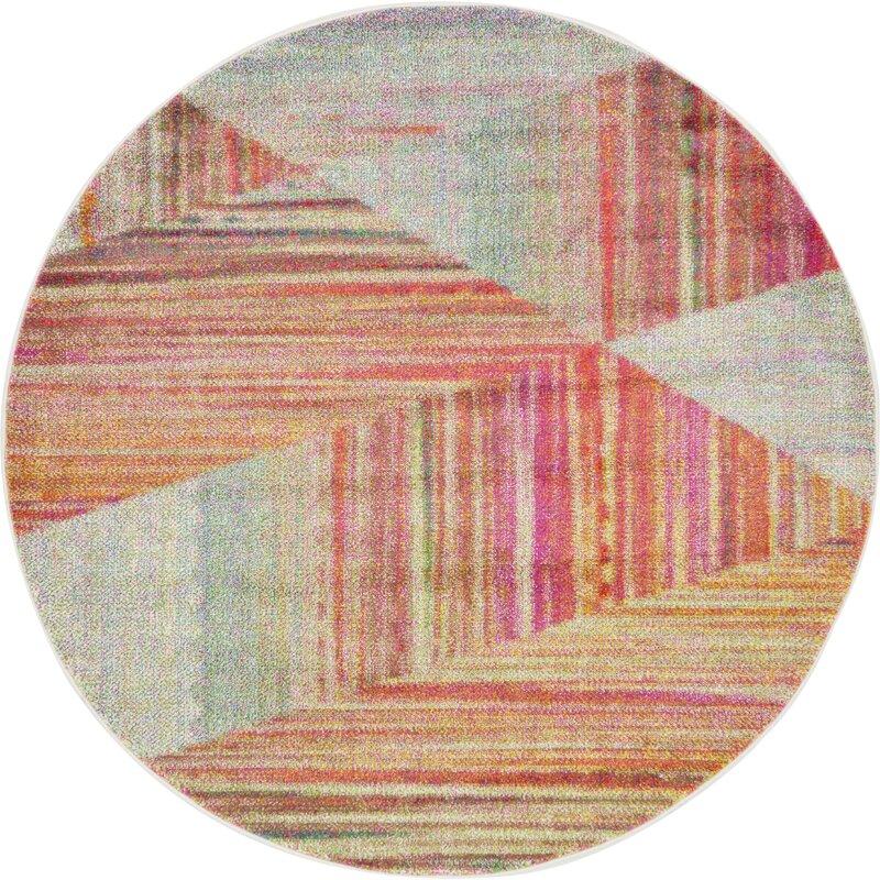 Mercury Row Aristomache Pink Area Rug & Reviews