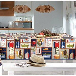pascal retro kitchen vinyl nonwoven backing kitchen picnic tablecloth
