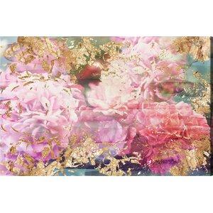 'Rose Rhapsody' Graphic Art Print on  Canvas