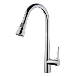 Legion Furniture UPC Pull Down Single Handle Kitchen Faucet with Deck Plate