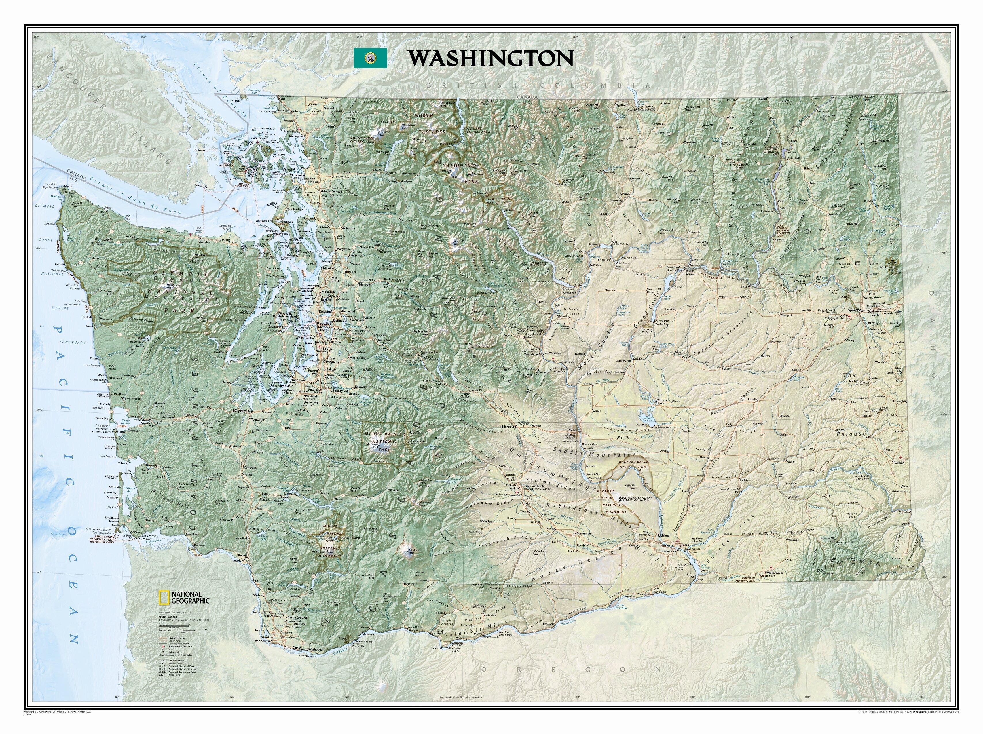 National Geographic Maps Washington State Wall Map | Wayfair