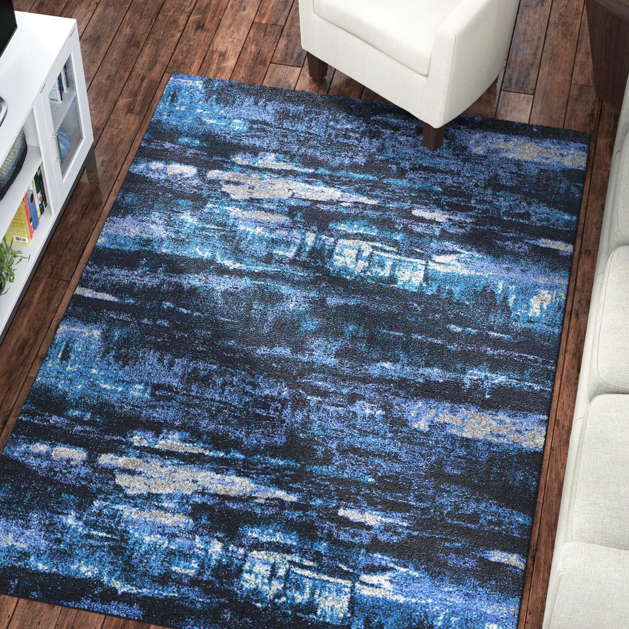 Latitude Run Basnight Sky Blue Area Rug & Reviews | Wayfair