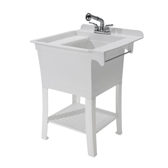 cover with lowes door cabinet w storage stainless steel laundry faucet utility sink strainer