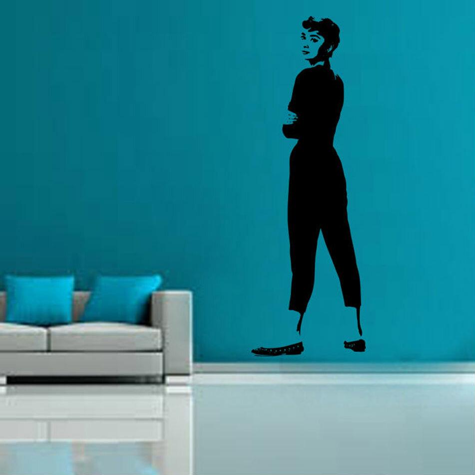Kult Kanvas Wandtattoo Audrey Hepburn