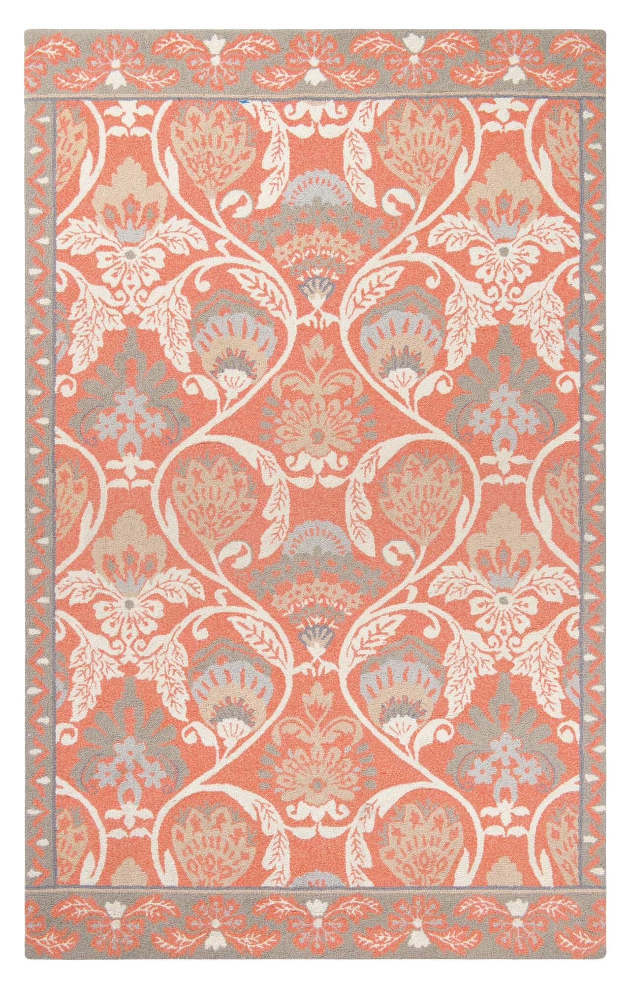 Companyc quinn hand hooked coral area rug wayfair