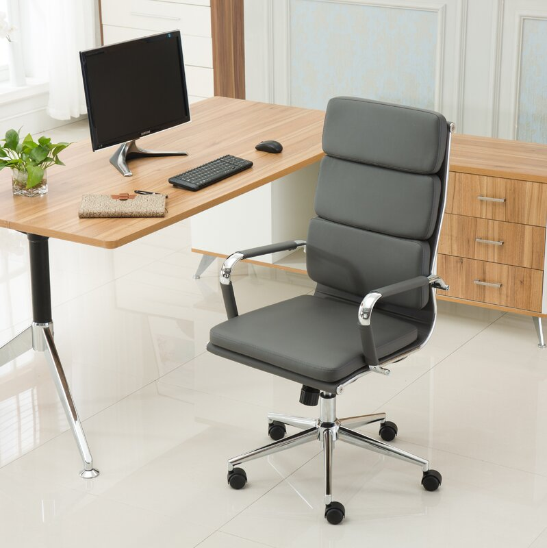 high office desk. Modica Contemporary High-Back Office Desk Chair High F