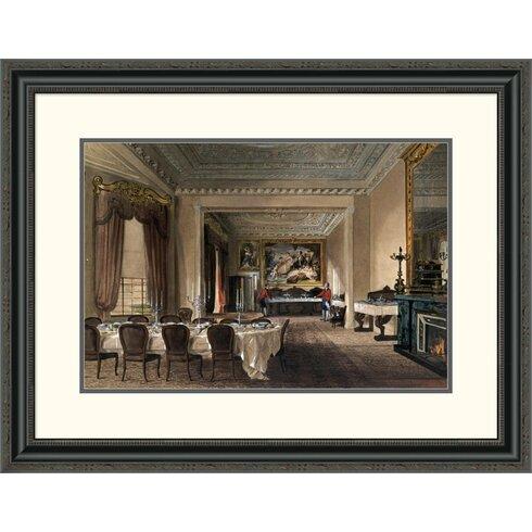 U0027The Dining Room, Osborne Houseu0027 By James Roberts Framed Painting Print · U0027