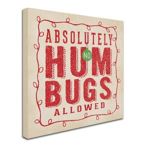 'Hum Bugs' Textual Art on Wrapped Canvas