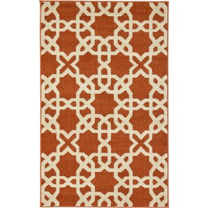 Coughlan Red/Beige Area Rug