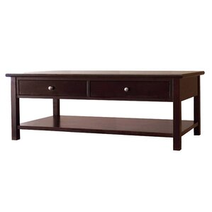 Blevins 2 Drawer Coffee Table in Dark Birch by Alcott Hill