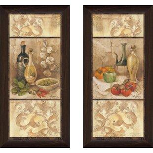 U0027Tuscan Kitchen Iu0027 2 Piece Framed Acrylic Painting Print Set