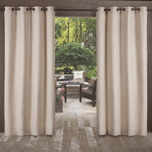 Lythrodontas Heavy Textured Solid Outdoor Room Darkening Grommet Curtain Panels (Set of 2)