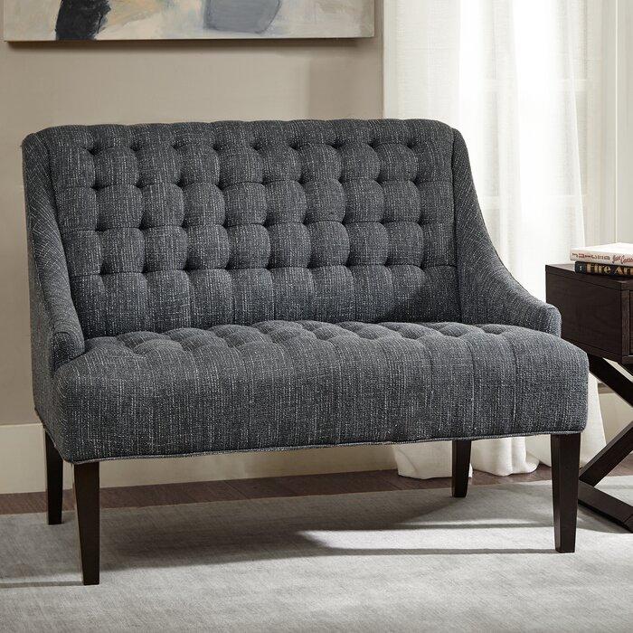 loveseats chaise settee light sofas categories velvet tufted loveseat shades of