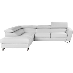 Downingtown Leather Sectional  sc 1 st  AllModern : white sectional sofa with chaise - Sectionals, Sofas & Couches