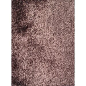 Shaggy Hand Tufted Brown Area Rug