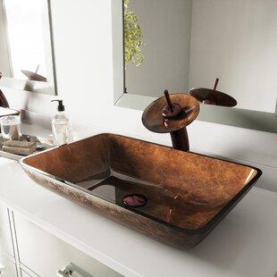 Miraculous Copper Glass Vessel Sink Wayfair Home Remodeling Inspirations Genioncuboardxyz