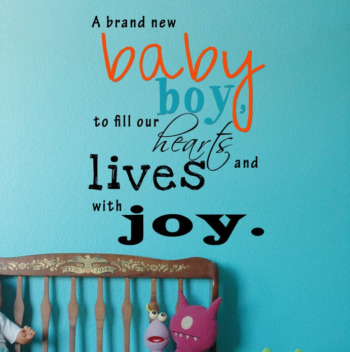 A Brand New Baby Boy Wall Decal